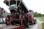Lady Pride of England coming off the low-loader