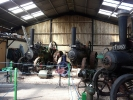The engines in the transport barn