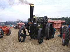 Marshall 14242, Victoria in amongst the threshing machines at Heyshott 2005