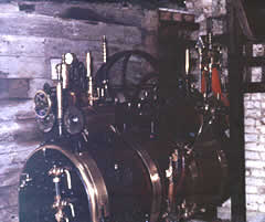 Savage centre engine 722 shown here in Seward's workshop, Chapel Street, Petersfield