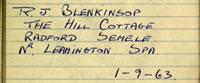 R J Blenkinsop
