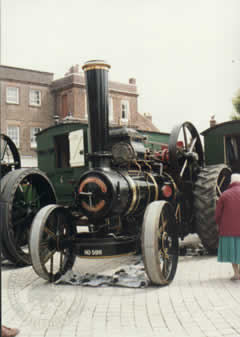 "Fowler 7453, now named ""Albert"", shown here on the market square Petersfield prior to the ""Downs Rally"" 1996"