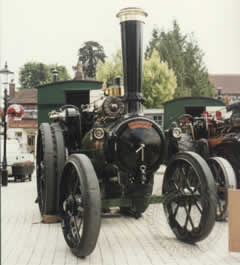 "Victoria Empress of India shown here on the market square in Petersfield prior to the ""Downs Rally"" 1996"