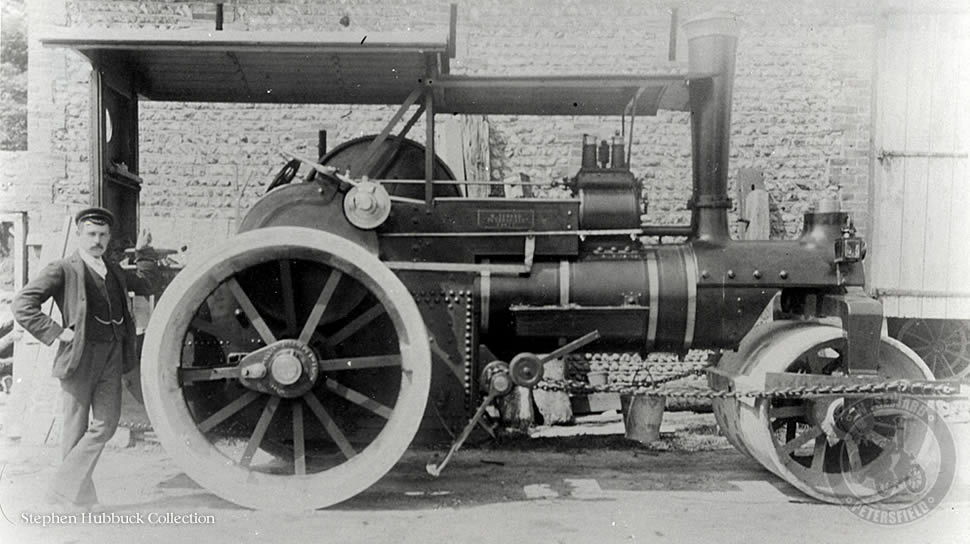 Wallis and Steevens single cylinder roller, number 2183.