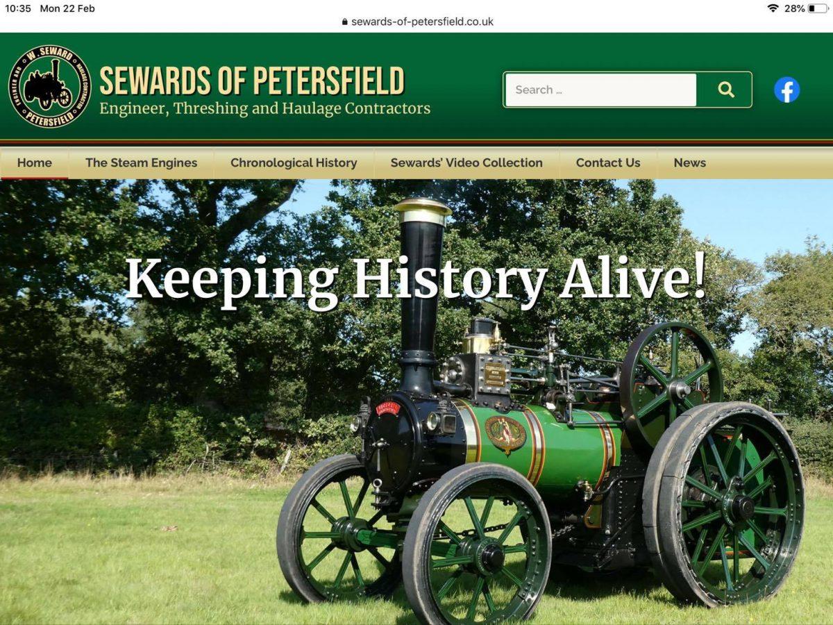 New website for Sewards of Petersfield
